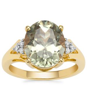Csarite® Ring with Diamond in 18K Gold 5.42cts