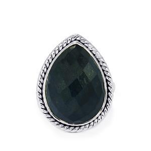Hawk's Eye Ring in Sterling Silver 14cts