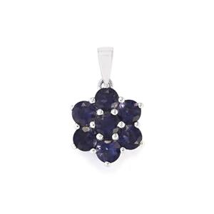 2.64ct Bengal Iolite Sterling Silver Pendant