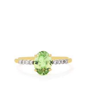 Ultraviolet Colour Change Garnet & Diamond 14K Gold Tomas Rae Ring ATGW 1.38cts