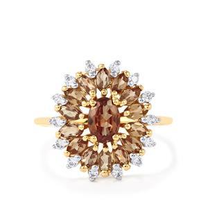 Bekily Colour Change Garnet & White Zircon 10K Gold Ring ATGW 2.19cts