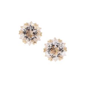Wobito Snowflake Cut Itinga Petalite Earrings in 9K Gold 3.70cts