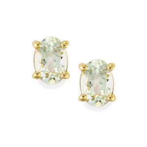 Espirito Santo Aquamarine Earrings in 10K Gold 1.35cts