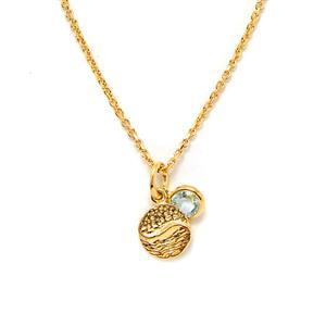 0.44ct Aquamarine Gold Vermeil Pendant Necklace