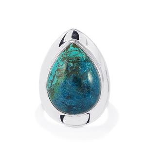 13.00ct Chrysocolla Sterling Silver Aryonna Ring