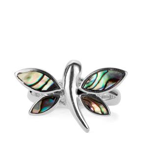 Paua Sterling Silver Dragonfly Ring