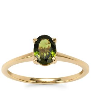 Chrome Tourmaline Ring in 9K Gold 0.65ct