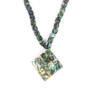 Paua & White Shell Sterling Silver Necklace