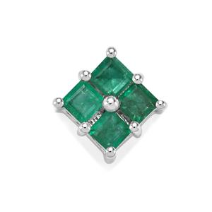 Luhlaza Emerald Pendant in Sterling Silver 0.72ct