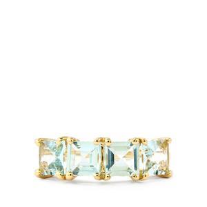 2.12ct Pedra Azul Aquamarine 10K Gold Ring