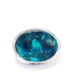 Shattuckite Ring in Sterling Silver 14cts