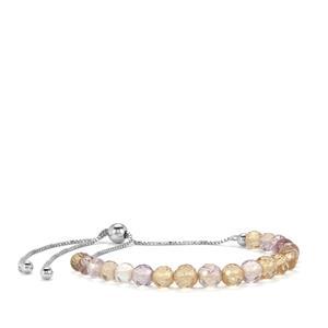 15.50ct Mato Grosso Ametrine Sterling Silver Graduated Bead Slider Bracelet
