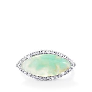 Aquaprase™ Ring with White Topaz in Sterling Silver 5.67cts