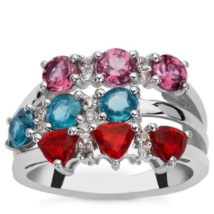 2.44ct Exotic Gems Sterling Silver Ring