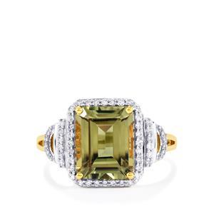 Csarite® & Diamond 18K Gold Lorique Ring MTGW 4.04cts