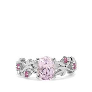 Kolum Kunzite & Pink Sapphire Sterling Silver Ring ATGW 1.95cts