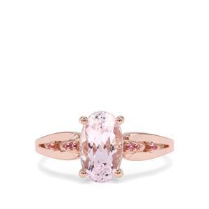 Kolum Kunzite & Pink Sapphire 9K Rose Gold Ring ATGW 2.45cts