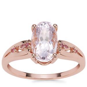 Kolum Kunzite Ring with Pink Sapphire in 9K Rose Gold 2.45cts