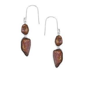 Burmese Ruby Earrings in Sterling Silver 21.34cts
