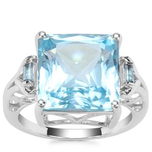 Sky Blue Topaz Ring with Marambaia London Blue Topaz in Sterling Silver 12.47cts