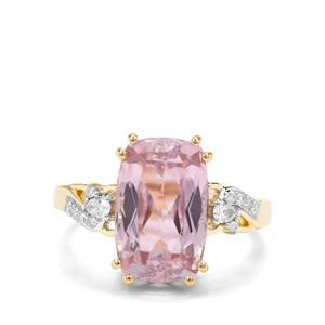 Kolum Kunzite & Diamond 18K Gold Lorique Ring MTGW 7.13cts