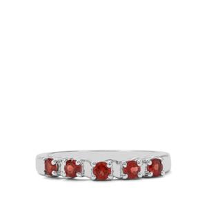0.55ct Rajasthan Garnet Sterling Silver Ring