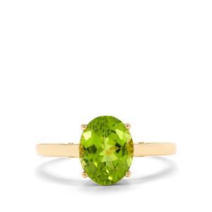 2.40ct Changbai Peridot 9K Gold Ring