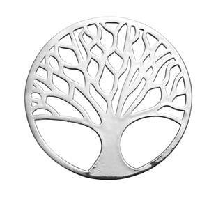 Sterling Silver Tree of Life Disc 3.10g