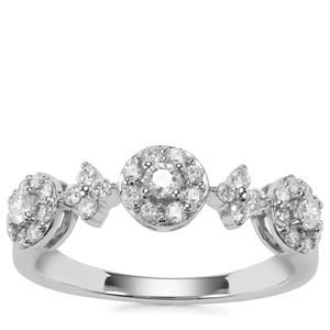 Canadian Diamond Ring in Platinum 950 0.51ct