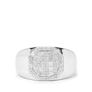 3/4ct Diamond Sterling Silver Ring