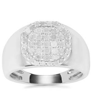 Diamond Ring in Sterling Silver 0.77ct