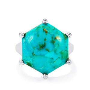 10.85ct Cochise Turquoise Sterling Silver Ring