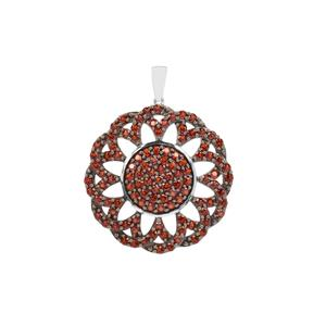 Anthill Garnet Pendant in Sterling Silver 6.38cts