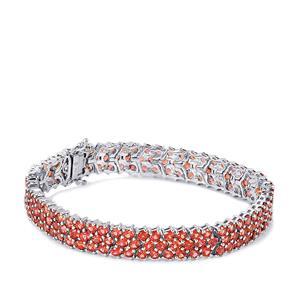 22.18ct Mozambique Garnet Sterling Silver Bracelet