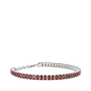 12.48ct Rhodolite Garnet Sterling Silver Bracelet