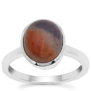 Iolite Sunstone Ring in Sterling Silver 4cts