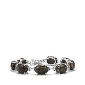 Siberian Seraphinite Bracelet in Sterling Silver 42.40cts