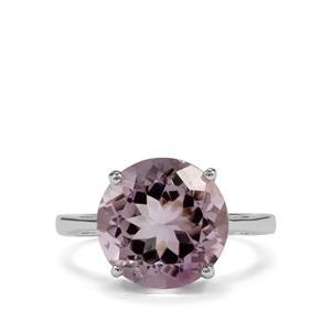 5.83ct Rose De France Amethyst Sterling Silver Ring