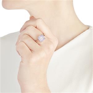 3.90ct Rio Grande Lavender Quartz Sterling Silver Ring