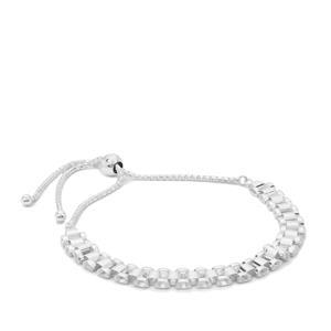 """10"""" Sterling Silver Altro Rolex Slider Bracelet 7.15g"""