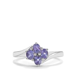 0.93ct AA Tanzanite Sterling Silver Ring