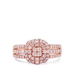 Pink Diamond Ring in 9K Rose Gold 1.05ct