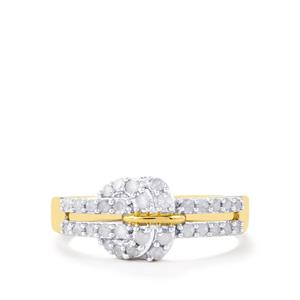 Diamond Ring in Gold Plated Sterling Silver 0.51ct