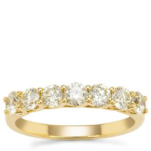 Yellow Diamond Ring  in 18K Gold 1.10cts