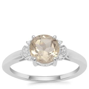 Serenite Ring with White Zircon in Sterling Silver 1.29cts