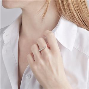 Diamond Bridge Mini Stacking Ring in Rose Gold Vermeil 1/4ct