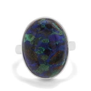 15.64ct Azure Malachite Sterling Silver Aryonna Ring