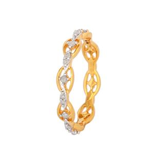 1/6ct Diamond Ring in Gold Plated Sterling Silver