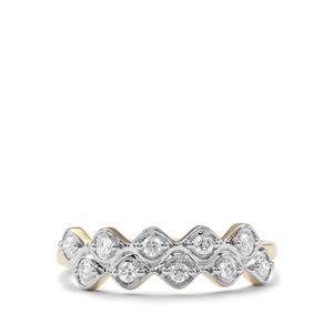 Argyle Diamond Ring in 9K Gold 0.21ct