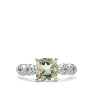 Serenite Ring with White Topaz in Sterling Silver 2.22cts